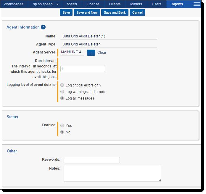 Configuring Data Grid